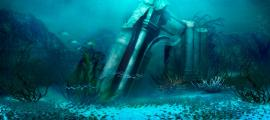 A representation of what the lost city of Atlantis may look like