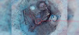 The remains of the Egyptian woman with her unborn child
