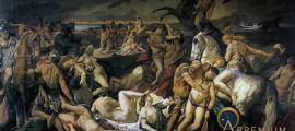 Battle of the Amazons by Anselm Feuerbach (1873) (Public Domain)
