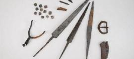 he items found on Morgarten plain, possibly from an important 14th century battle.