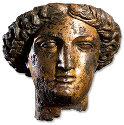 The head of the statue of Sulis Minerva