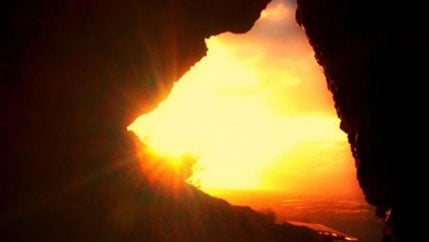 The sun through the Cave