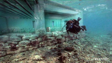 Sunken City in Souhern Greece
