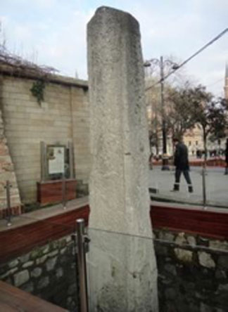 The surviving part of the Milion in Constantinople.