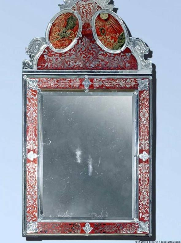 The 'talking mirror' constructed in 1720 that furnished the home of Maria's stepmother, the Countess of Reichenstein.