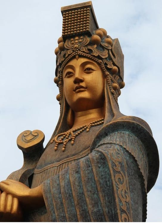The tallest statue of Mazu in the world, 2013. Photo by Dli184