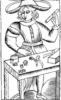 The Magician from the Marseille Tarot