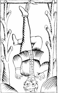 The Hanged Man from the Marseille Tarot