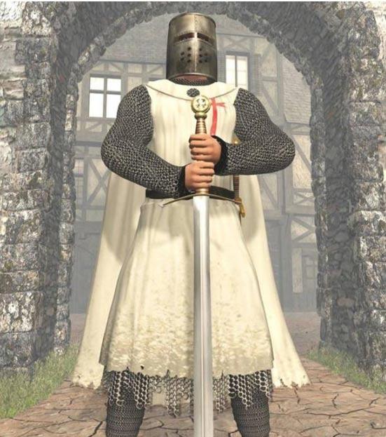 Artist's impression of a Templar Knight