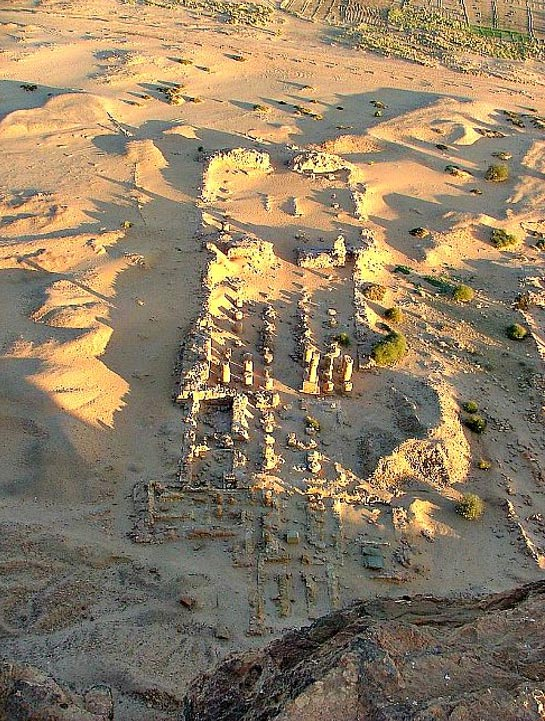 Ruins of the Temple of Amun of Jebel Barkal, the main religious center of the 25th dynasty or Kushite Dynasty