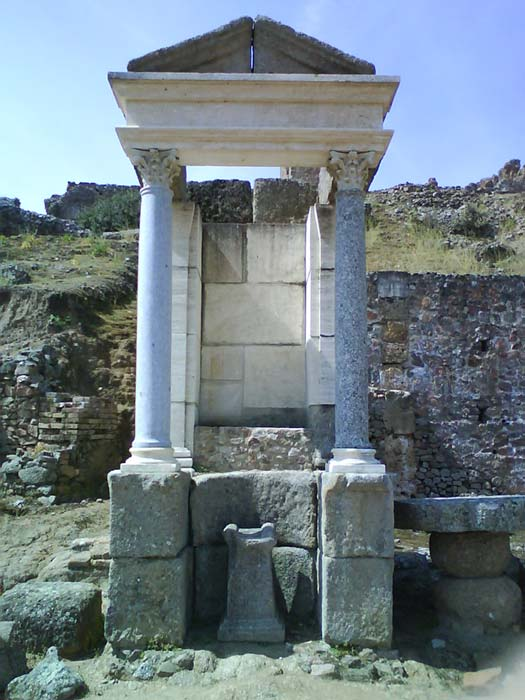 A temple to Mercury at Munigua