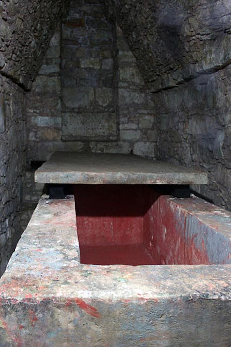 Tomb of the Red Queen (Temple XIII) in Palenque, Chiapas, Mexico.