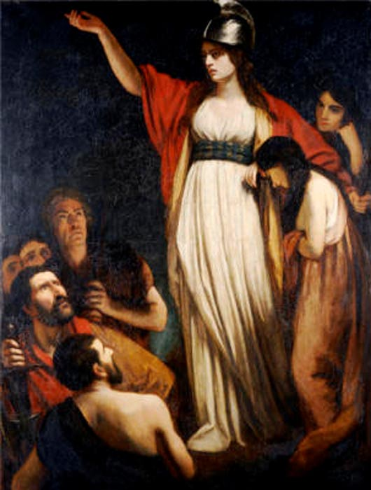 'Boadicea Haranguing the Britons' by John Opie.