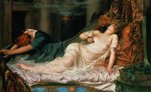 The Death of Cleopatra by Reginald Arthur
