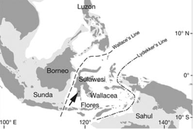 Map of the area in the journal Nature.