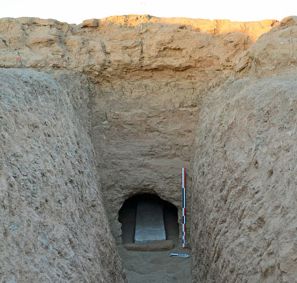 The tomb where the relief of akhenaten was discovered