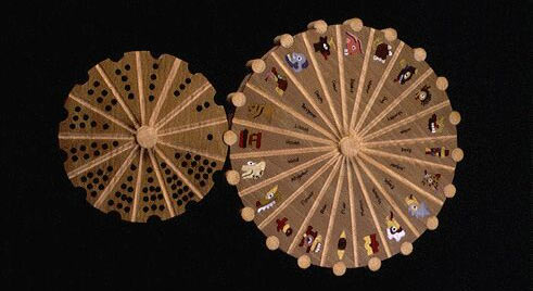 The tonalpohualli calendar with two interlocking wheels