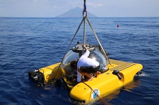 One of the Triton submersibles