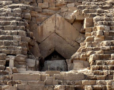 The tunnel made by Caliph Al Ma'mun in the Great Pyramid
