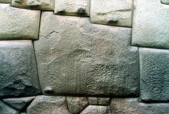 Twelve angle stone, in the Hatun Rumiyoc street of Cuzco