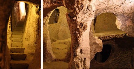 One of the many underground structures in Cappadocia