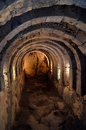 Inside one of the underground chambers at Epirus