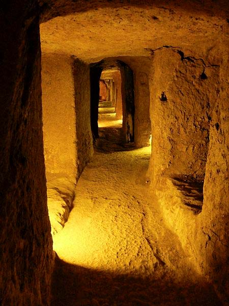 the underground city of Nushabad, Iran.