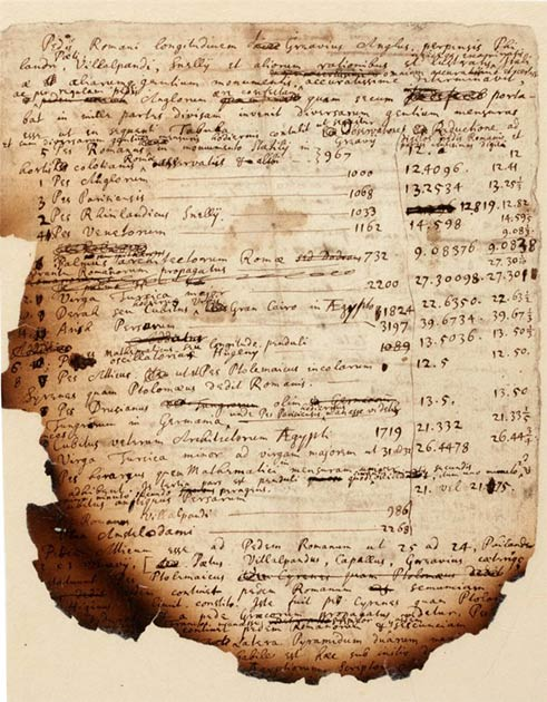 One of the unpublished burned papers for sale. (Isaac Newton/Sotheby's)