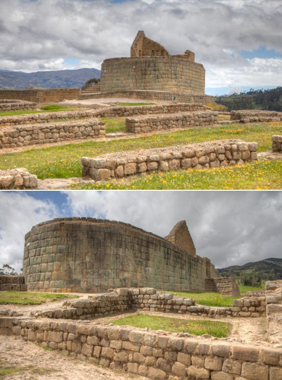Two views of the Temple of the Sun
