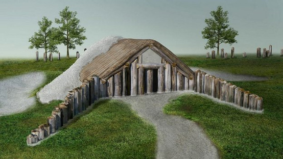 A visualisation of the longbarrow