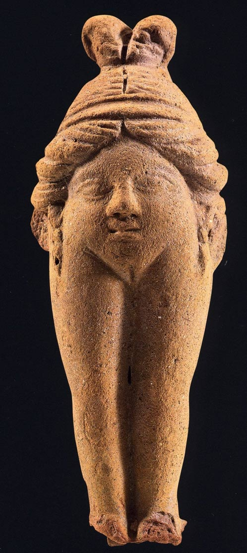 Figurine of a vulva-woman known as Baubo, terracotta, Priene, Asia Minor, 4th century AD
