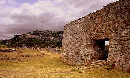 Preserved wall of the Great Zimbabwe