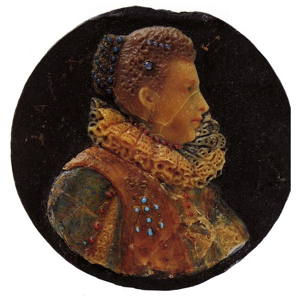 Wax portrait of woman, 1618