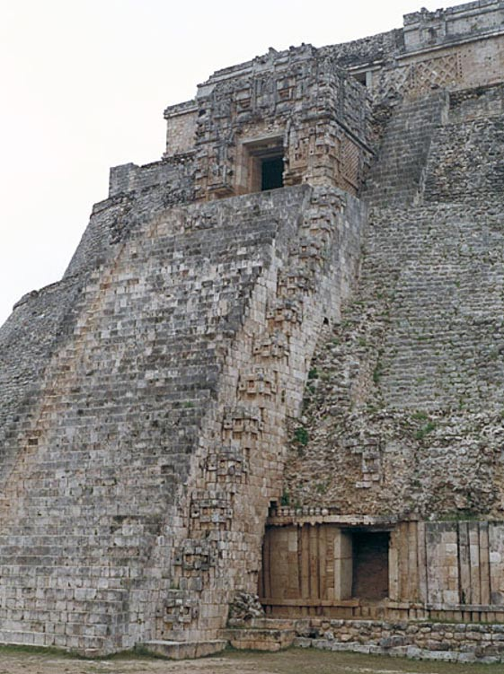 The western staircase of the Pyramid of the Magician, Uxmal.