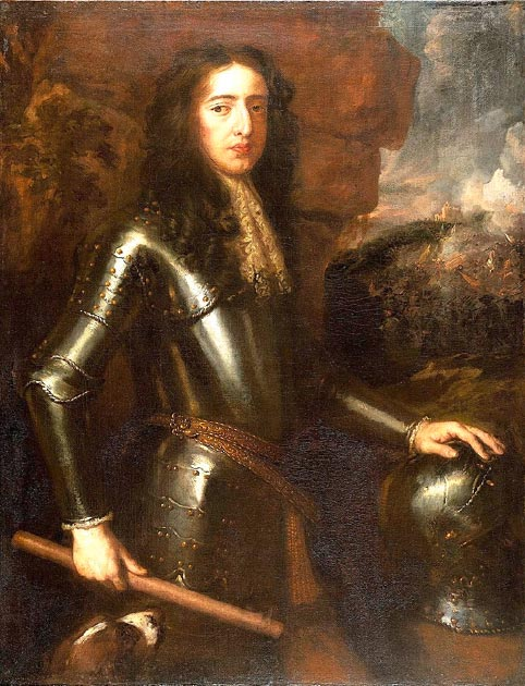 "William III (""William of Orange""), his troops were victorious in the Battle of the Boyne. (BotMultichillT / Public Domain)"