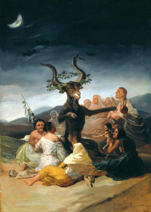 The coven, painting by Francisco de Goya, Museo Lázaro Galdiano, Madrid