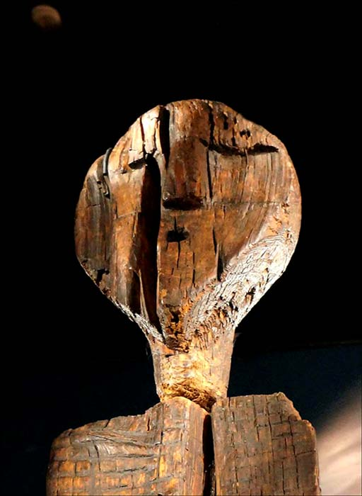 The Shigir Idol is almost three times as old as the Egyptian pyramids. Pictures: The Siberian Times