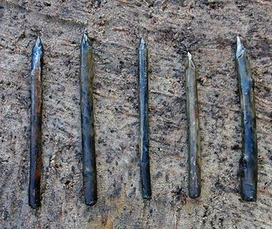 Seven yew blades