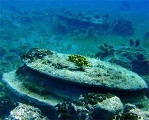 Zakynthos Underwater Ruins - Column